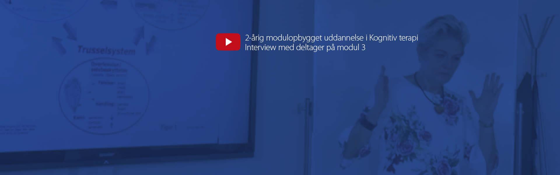 Videocover_2-årig modulopbygget uddannelse i Kognitiv terapi